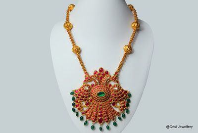 Light Weight Temple Jewellery with Peacock pendants | Latest Indian Jewellery…