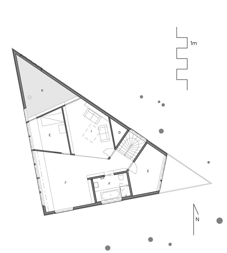 Floor Plan Definition Architecture: Triangle House, Triangle