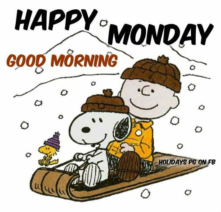 Charlie Brown and Snoopy- Happy Monday, Good Morning