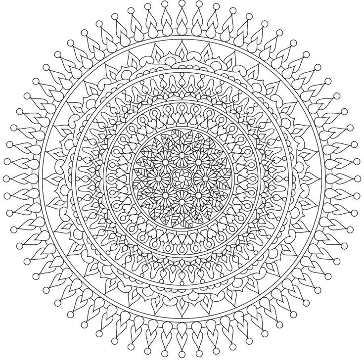 Free Mandalas Best Printable Mandalas To Color Free Images On Pinterest Draw Heart Coloring Pages Mandala Coloring Books Free Coloring Pages