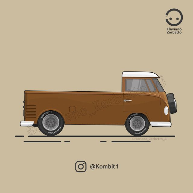 KombiT1: VW T1 PickUp Custom Flat Design