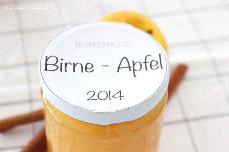 Der längste Post der Welt... und Apfel-Birnen-Marmelade oder Konfitüre? Apple-pear-jam