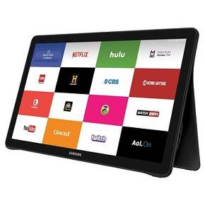 """Designed for Streaming Video With the Galaxy View, everything you love is at your fingertips. Access exactly what you want instantly with a simple-to-navigate grid menu. And, with the swipe of a finger, you can easily switch between movies, shows, live TV and Internet.  The Galaxy View's 18.4"""" 1080p full HD display gives you a big-screen experience, within arm's reach. And powerful speakers deliver a crisp, clear sound that brings the picture to life.   Designed with ..."""