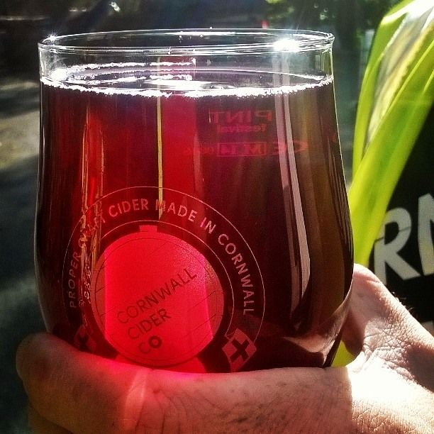 Look at that #colour #blackcurrant #cider #perfection