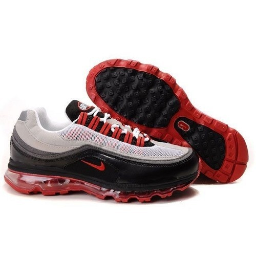 For Sale Nike Max Air 24/7 Black/ Neutral Grey - Varsity Red Men Shoes 1018 $66