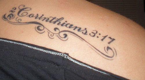 Bible verse tattoos on shoulder for girls 20 inspiring for Bible tattoos for girls