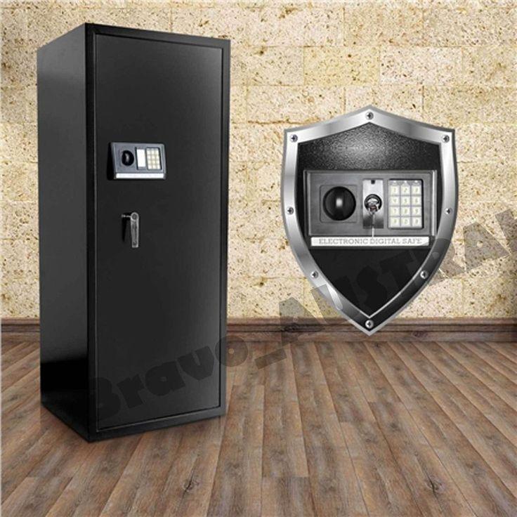 NEW 20 Rifle Storage Gun Safe Firearm Lockbox Steel Cabinet Electronic Lock