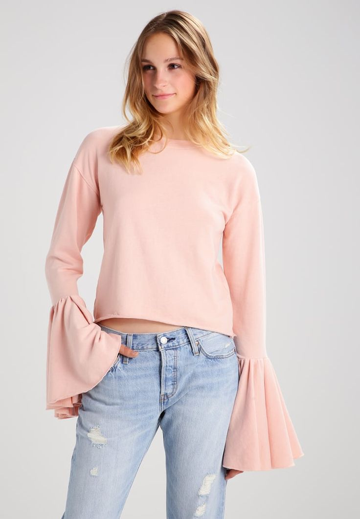 Missguided FLUTE CUFF - Sweatshirt - pink  for £24.99 (02/08/17) with free delivery at Zalando