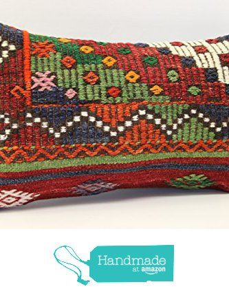 Handmade kilim pillow cover 12x20 inch (30x50 cm) Armchair Pillow Lumbar Kilim pillow cover Home Decor Throw Pillow cover Kilim Cushion Cover from Kilimwarehouse https://www.amazon.com/dp/B073FNBS4D/ref=hnd_sw_r_pi_dp_H.cvzbS0EJ61P #handmadeatamazon