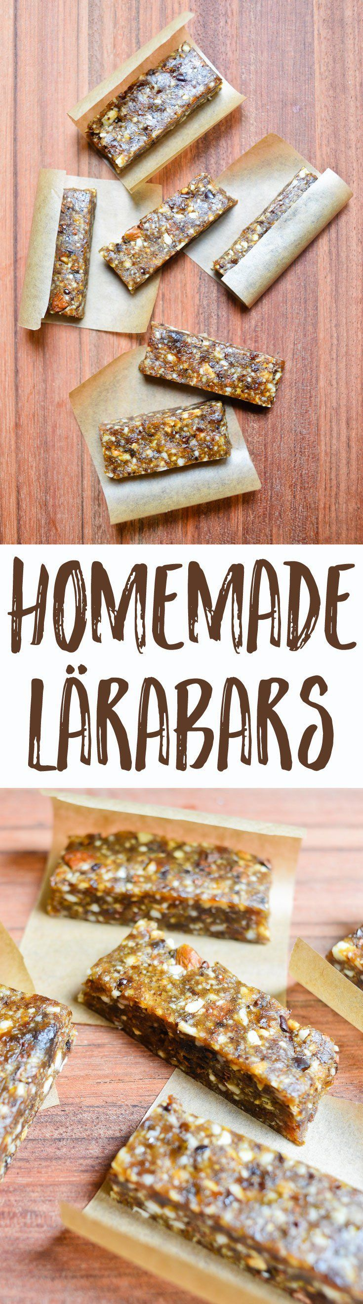 Addicted to energy bars and looking for a way to make homemade Lärabars? This easy formula gets you all-natural power bars for a delicious, portable snack.