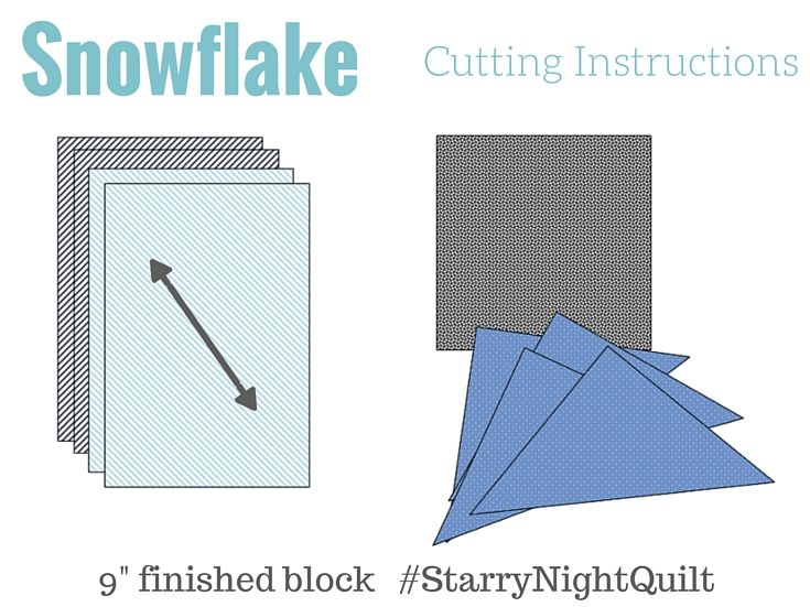 Snowflake Block 2 | Starry Night Quilt - The Sewing Loft