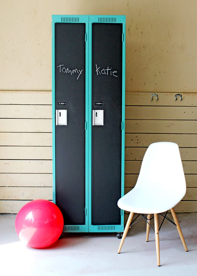 Designer Storage Tutorial 101!  Just in time for back to school. But back at home, because school gives some of us adults the willies.  DIFY has been inspired by lockers for YEARS, and we are excited to announced that we have awesome re-purposed, funkified gym lockers for sale!  AND they are on WHEELS, for easier moving. Custom colours available contact dify.crew@gmail.com