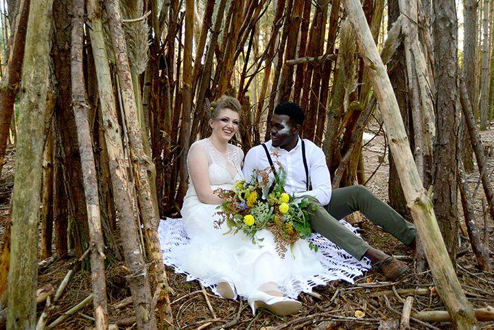 Modern Geometric Woodland Wedding Inspiration
