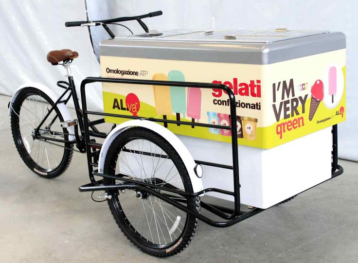 ICE CREAM BIKE CART BIG FOOT WITH FIBERGLASS BENCH FOR STREET FOOD VENDING