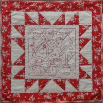 Peppermint Stitches - by Rosalie Quinlan - Wall Quilt Pattern - $15.00 : Fabric Patch, Patchwork Quilting fabrics, Moda fabric, Quilt Supplies, Patterns