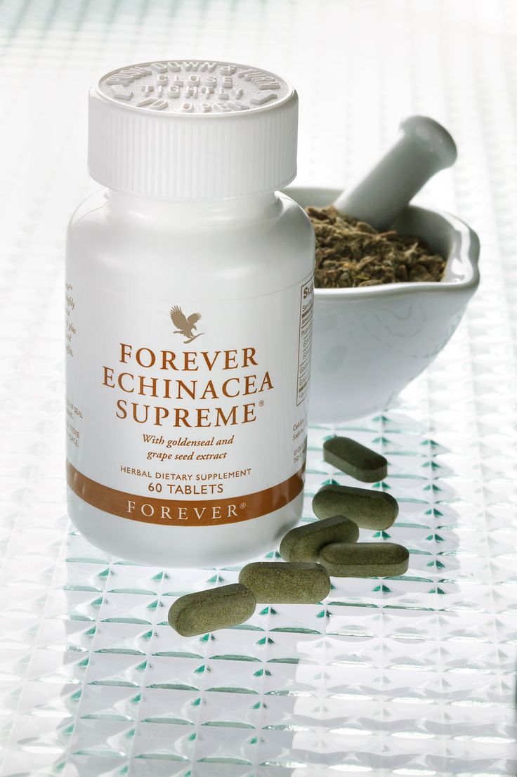 Echinacea is widely used for a variety of benefits. Forever Echinacea is a highly prized form, containing both purpurea and angustifolia, combined with goldenseal and grape extract for maximum benefit.