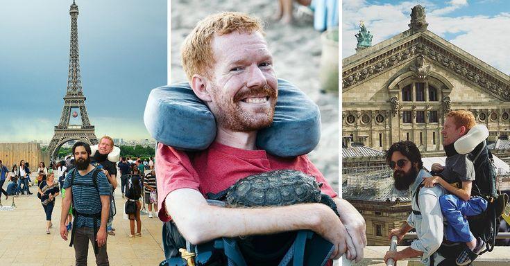 Kevan tiene atrofia muscular espinal, pero esto no fue impedimento para recorrer toda Europa junto a sus amigos, uno de los viajes más importantes de su vida.