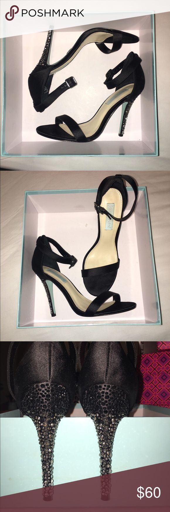 Betsy Johnson strapy heels!! Worn to a wedding!! Betsy Johnson strapy heels!! Worn to a wedding!! Worn once beautiful and comfortable to wear for long periods! Bought new from Dillard's. Will sell for less on Ⓜ️ercari Betsey Johnson Shoes Heels