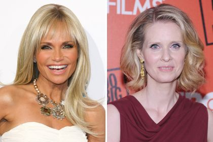 Worst Hairstyles for Women Over 40 - Ashy hair color has cooler undertones, which can look almost gray. Plus, the cooler tones can make you look paler, like Cynthia Nixon does here. Kristin Chenoweth is over-compensating for this effect with copious amounts of self-tanner .