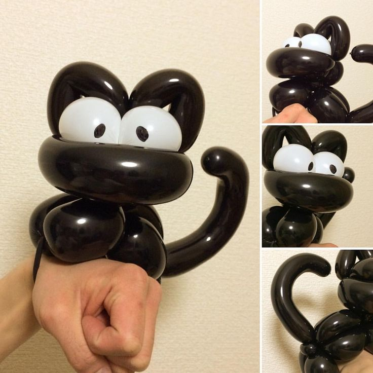 Black Cat Bracelet #cat #balloonart #黒猫 #バルーンアート