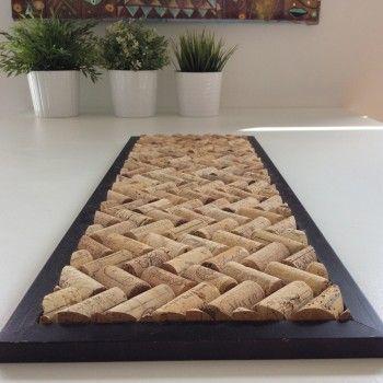 DIY dessous de plat en bouchons de liege #DIY #houses #déco #decoration #design #recyclage #maison #interiors #homemade