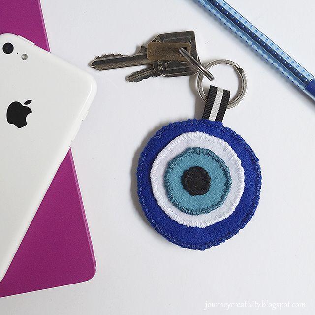 Journey into Creativity: Eye felt keychain
