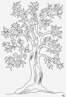 MALVORLAGEN BAUM Leaf coloring Coloring books Abstract