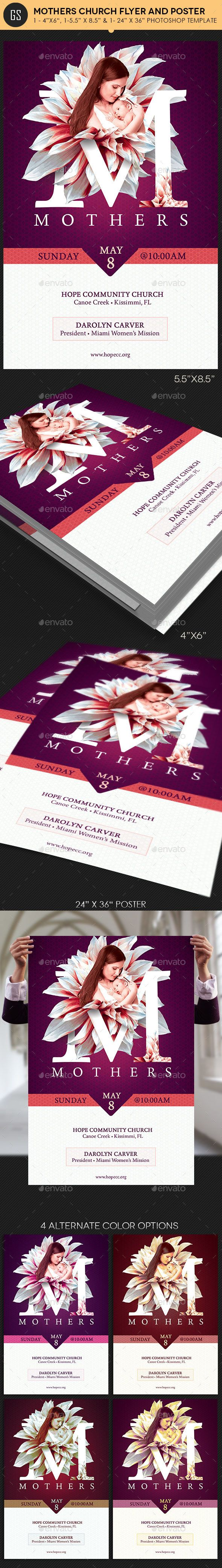 Mothers Church Flyer Poster Template - Church Flyers