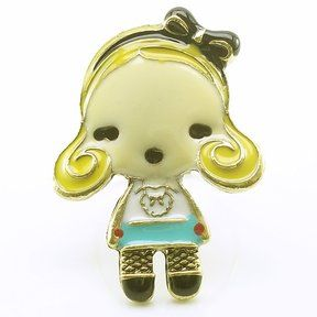 """DaisyJewel """"G"""" Doll Character Ring - Harajuku Lovers Inspired by Gwen Stefani - L.A.M.B. - Love Angel Music Baby - Adjustable Ring - One Size Fits All and/or One Size Fits Most on shopstyle.com"""