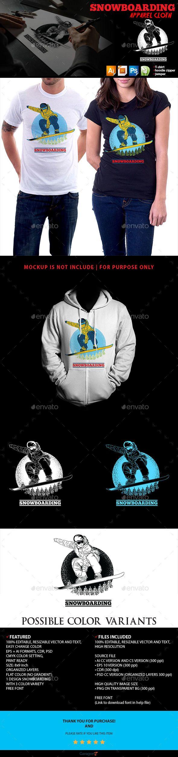 Snowboarding Apparel Cloth - Sports & Teams T-Shirts