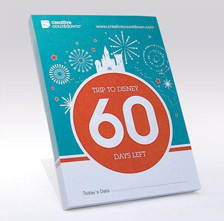 Disney Countdown, a 60-Day Tear-off Disney Countdown Calendar - ACreativeCountdown on Etsy