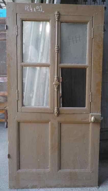 C1va18 porte d 39 interieur vitree en pin portes for Porte interieur point p