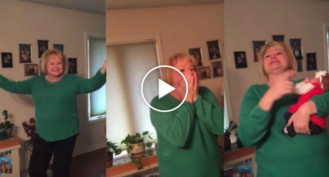 Avó Tem Reação Emocionante Ao Ver Neta Adotiva Pela Primeira Vez