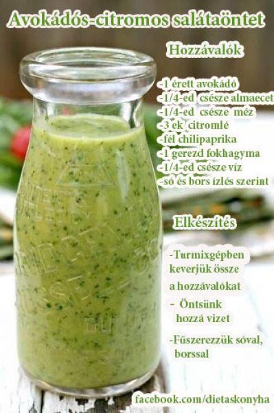 Avokádós-citromos salátaöntet