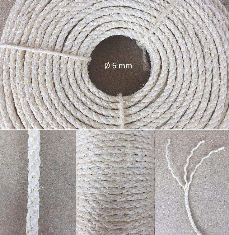 Günstiges Sisal Seil für Kratzbäume, Kleinstmengen, Ø 6 mm Sisalseil Kratzstamm in Haustierbedarf, Katzen, Kratzbäume & Möbel | eBay!