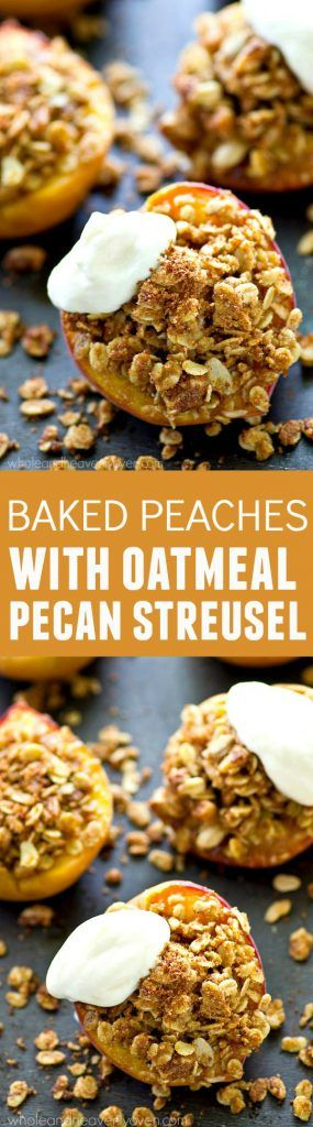 Juicy, sweet summer peaches are stuffed with a cinnamon sugary oatmeal pecan streusel filling and topped with lots of fresh whipped cream for an…