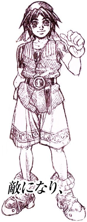 Serge Sketch - Characters & Art - Chrono Cross