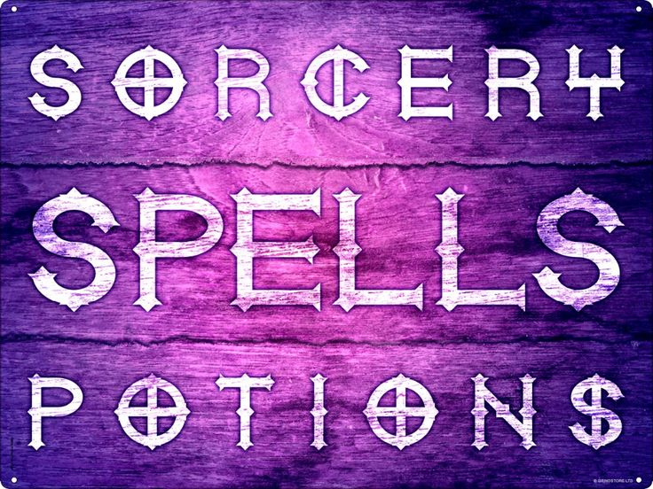 Magic Shop Fine Potions Spells Elixirs Sign Wooden Wall Decoration Sign witch