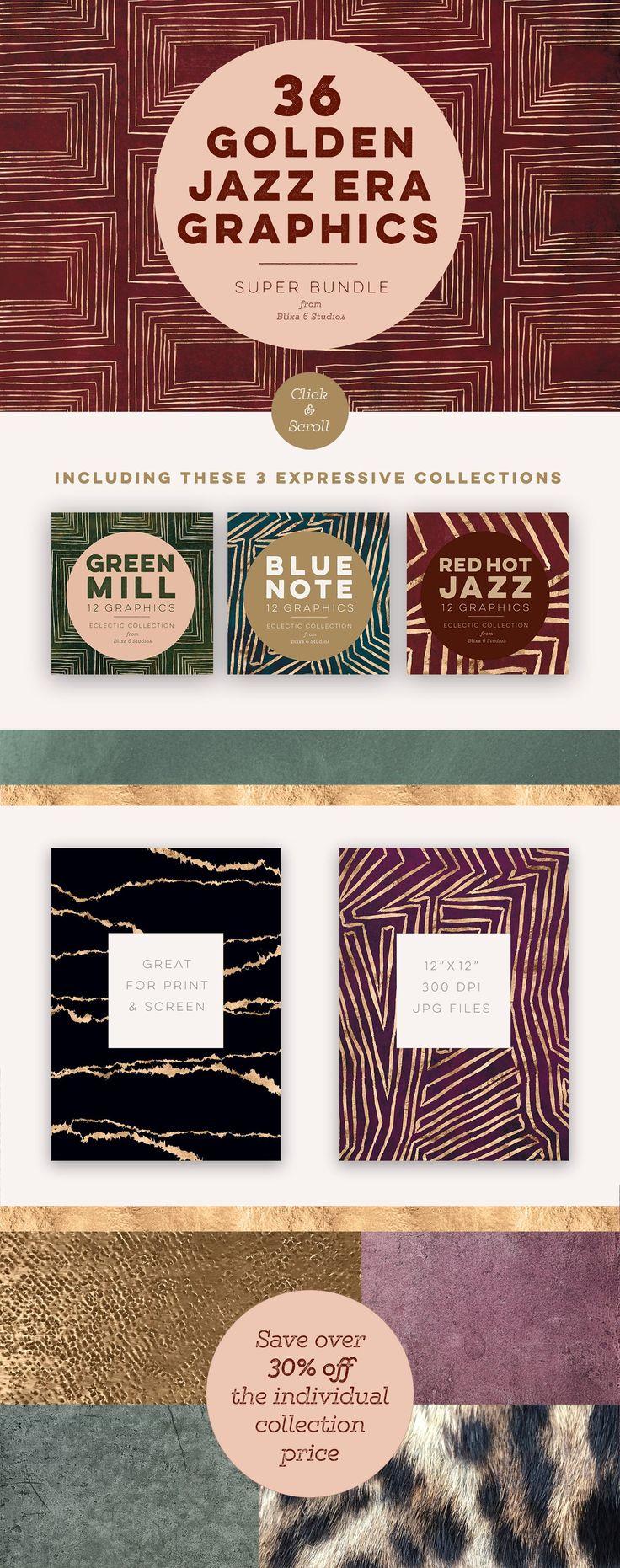 36 Golden Jazz Era Graphics - Patterns