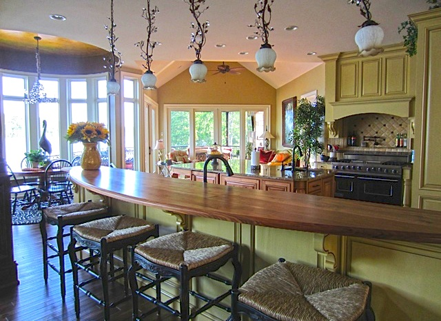 Kitchen Breakfast Room And Hearth Room From The