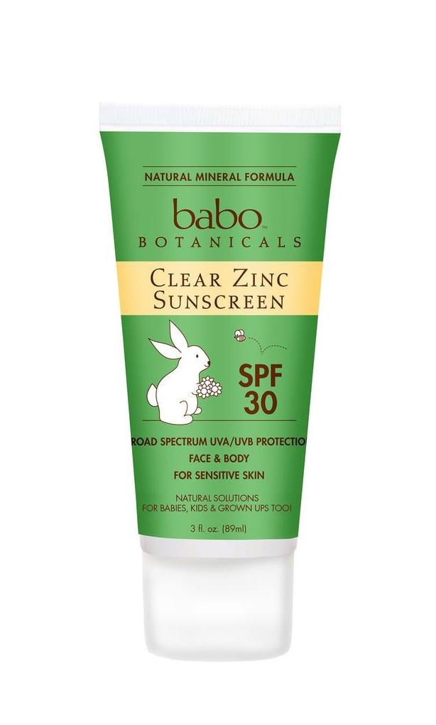 Babo Botanicals Clear Zinc Sunscreen Lotion SPF 30 | great for all ages, but especially great for kids