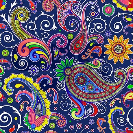 Colorful Paisley Throw Blanket Throw Blankets Blankets