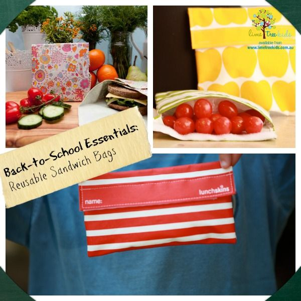 Reusable Sandwich Bags and Snack Pockets for Kids Lunches That are Green and Healthy