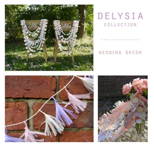 DELYSIA garlands ~ tassels ~ fringes Our collections of handmade decorations come in co-ordinating colours  Handmade party decorations Check out our store - paperstreetdolls.etsy.com