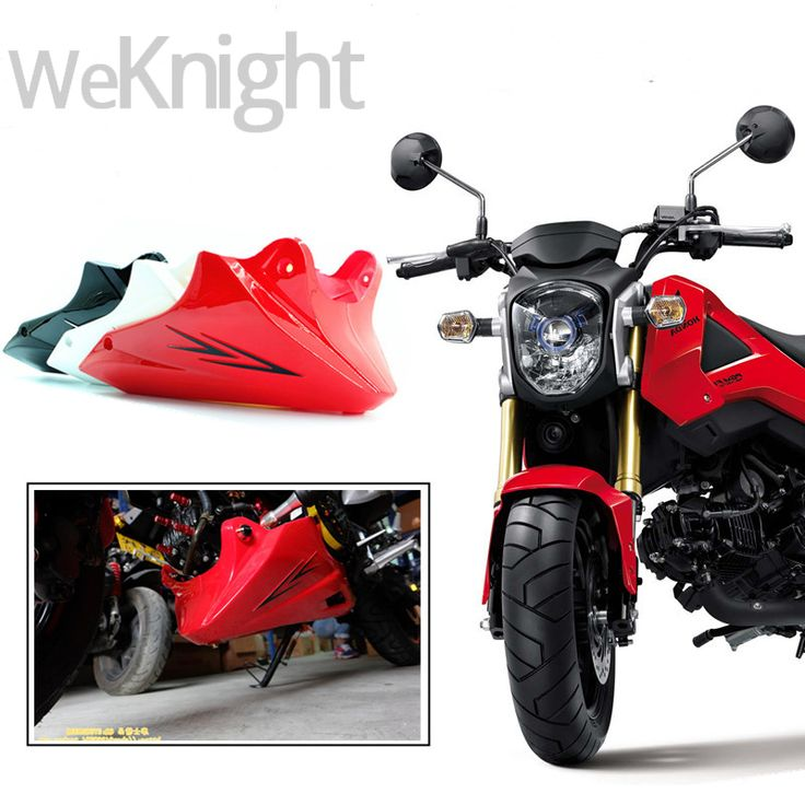 For Honda Grom MSX 125 2013 2014 2015 Black Red Engine Protector Guard Cover Under Cowl Lowered Low Shrouds Fairing Belly Pan #Affiliate