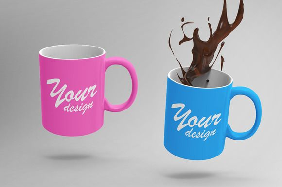 2 HQ Mug MockUps by TeddyGraphics on @creativemarket