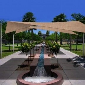 $137.22 (click for updated price and info) Large Square Sun Shade Sail covers your backyard play area. Your kids are protected from the sun.