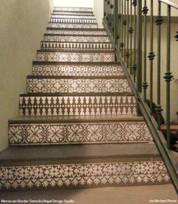 Top 70 Best Painted Stairs Ideas: 309 Best Images About Stenciled & Painted Floors On
