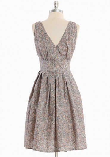 Willoughby Hills Floral Dress in Gray $53 via Ruche. >> This is