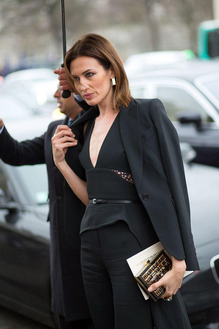 Haute Couture Street Style: Spring 2015  - HarpersBAZAAR.com